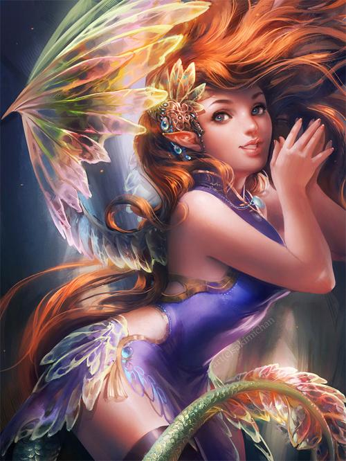 IFX的童话。<br /> http://sakimichan.deviantart.com/art/IFX-Fairy-311176950