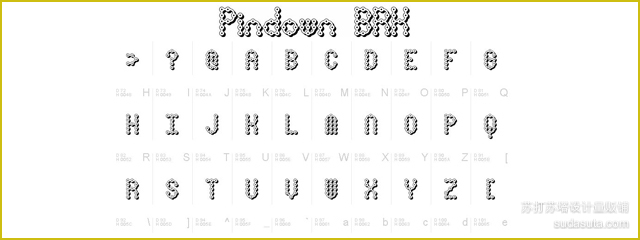 Pin Down X-BRK<br /><br /> http://www.fonts2u.com/pindown-x-brk.font