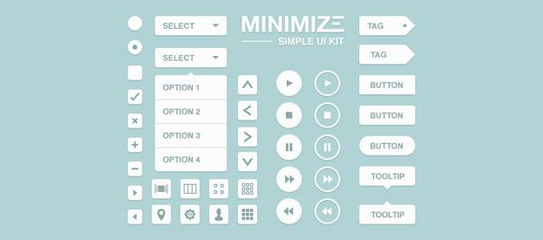 Minimize UI Kit<br /> http://365psd.com/day/3-87-2/