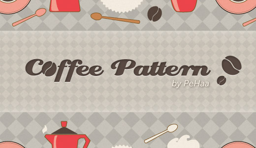 Morning Coffee Pattern<br /> http://graphicclouds.com/morning-coffee-pattern/