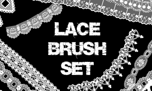 Lace Brush Set<br /> http://courthouse.deviantart.com/art/Lace-Brush-Set-139455191