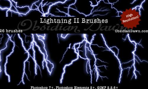 Lightning II Brushes<br /> http://redheadstock.deviantart.com/art/Lightning-II-Brushes-96494479