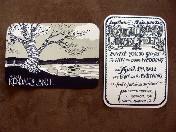 Kendall and Lance Wedding Invitations<br /> http://thehungryfoxaugusta.files.wordpress.com/2011/02/k2.jpg