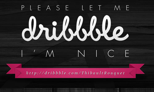Dribbble免费PSD<br /><br /> http://kxxl.deviantart.com/art/Let-Me-Dribbble-Free-PSD-298684493