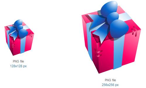 礼品盒图标<br /><br /> 16×16像素,24×24像素,32×32像素,48×48像素,128×128像素,256×256像素<br /><br /> http://www.softicons.com/free-icons/holidays-icons/christmass-dolls-by-zeusbox-studio/gift-box-icon