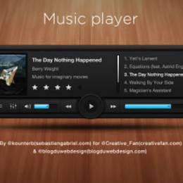 音乐播放器免费PSD素材下载
