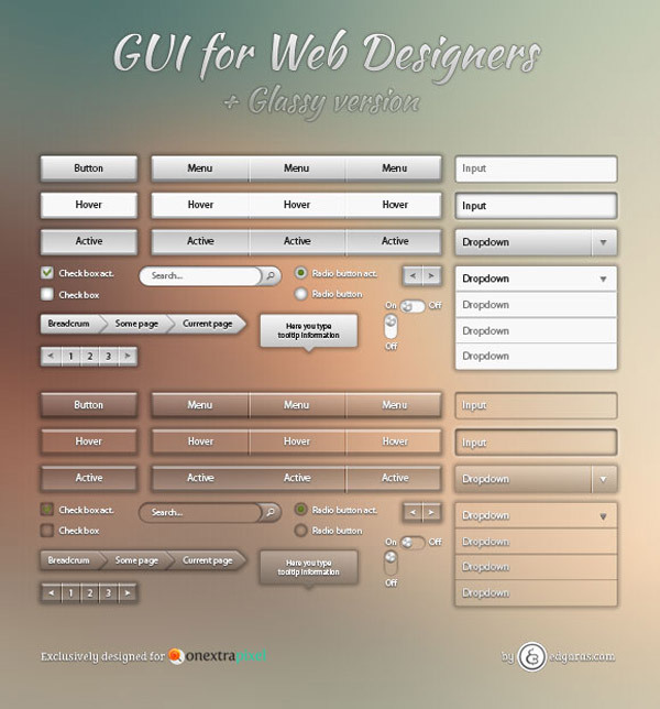 Metallic UI<br /> http://www.onextrapixel.com/2012/09/25/freebies-free-cool-metallic-and-glassy-web-gui-pack-for-designers/