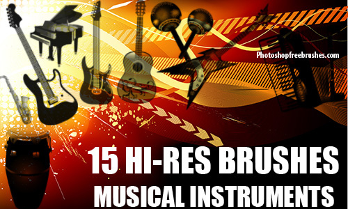 15 Musical Instruments Photoshop Brushes 2<br /> http://www.photoshopfreebrushes.com/musical-instruments-2/