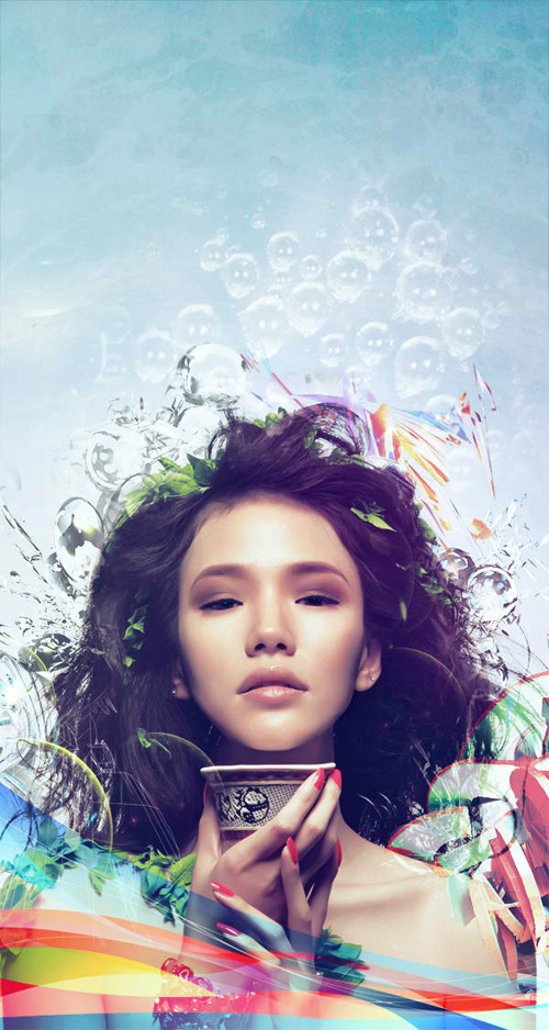 Learn How to Photo Manipulate the Colorful Portrait 'Transcendental'<br /> http://psd.fanextra.com/tutorials/photo-effects/learn-how-to-photo-manipulate-the-colorful-portrait-transcendental/