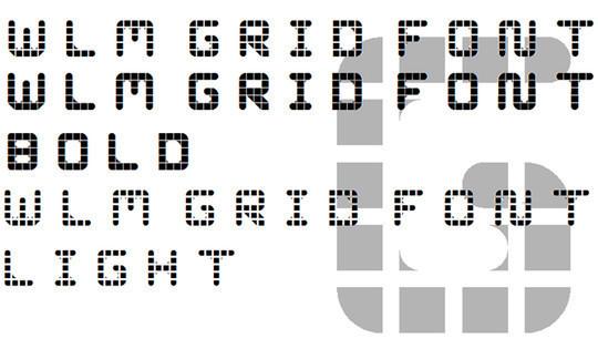 WLM Grid Font<br /> http://www.fontspace.com/wlm-fonts/wlm-grid-font