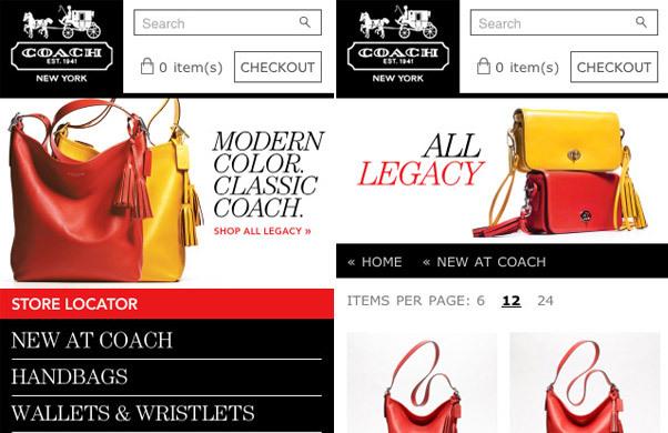 Coach<br /> http://mobile.coach.com/mt/www.coach.com/online/handbags/Home-10551-10051?un_jtt_redirect