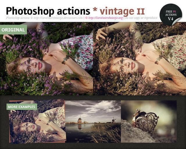 Photoshop Vintage Actions II<br /> http://lieveheersbeestje.deviantart.com/art/Photoshop-vintage-actions-II-310338460