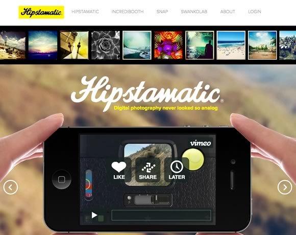 Hipstamatic<br /> 制作和分享美丽的摄影Hipstamatic。交换镜头,闪烁,和数百种不同的效果的电影。<br /> http://hipstamatic.com/
