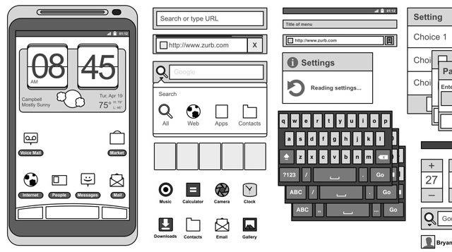 Android 2.3 Omnigraffle Stencils<br /> http://www.zurb.com/playground/gingerbread-stencils