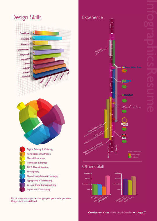 Infographics Resume<br /> http://www.behance.net/gallery/Infographic-Resume/559295