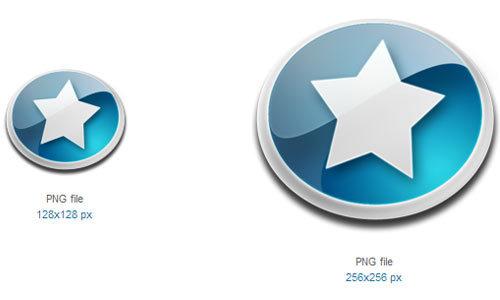 星形图标<br /> 24x24px,32x32px,48x48px,128x128px,256x256px<br /> http://www.softicons.com/free-icons/toolbar-icons/generic-icons-by-mat-u/star-icon