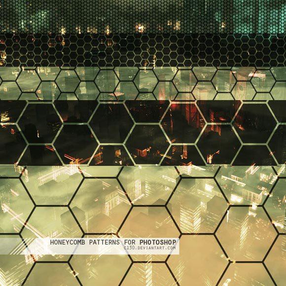 蜂窝photoshop图案<br /> http://c130.deviantart.com/art/Honeycomb-Patterns-for-PS6-71629474