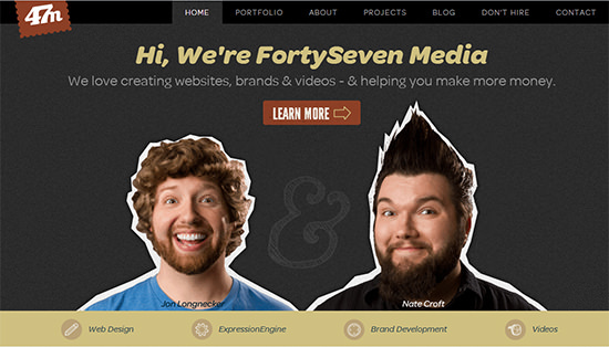 We're FortySeven Media<br /> http://fortysevenmedia.com/