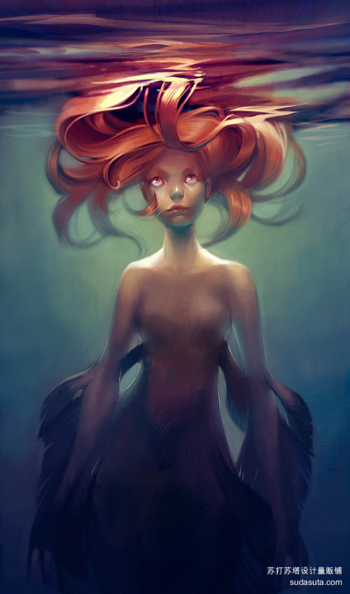 美人鱼<br /> http://loish.deviantart.com/art/mermaid-152049316
