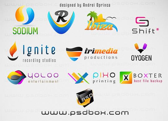 Multi Purpose PSD Logos<br /> http://www.psdbox.com/psd-files/10-fresh-multi-purpose-psd-logos/