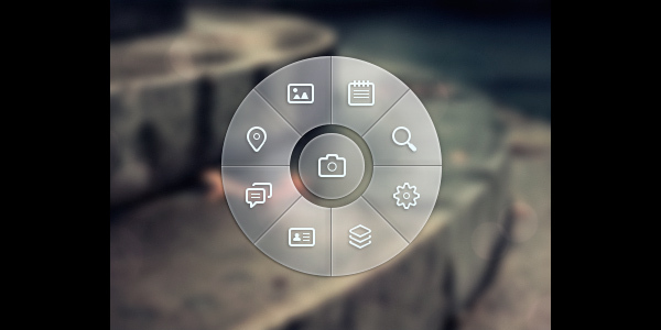 Circle Menu PSD<br /> http://dribbble.com/shots/647272-Circle-Menu-PSD