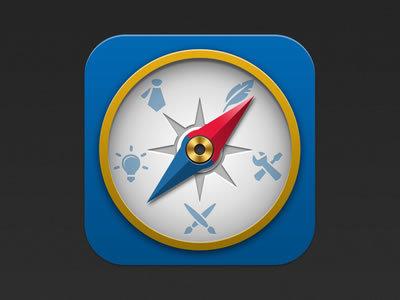 Compass Icon http://dribbble.com/shots/803557-Compass-icon