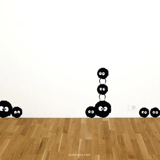 Dust Bunnies Wall Sticker Set by Spin Collective
