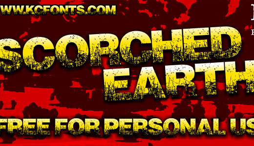 Scorched Earth<br /> http://www.dafont.com/scorched-earth.font