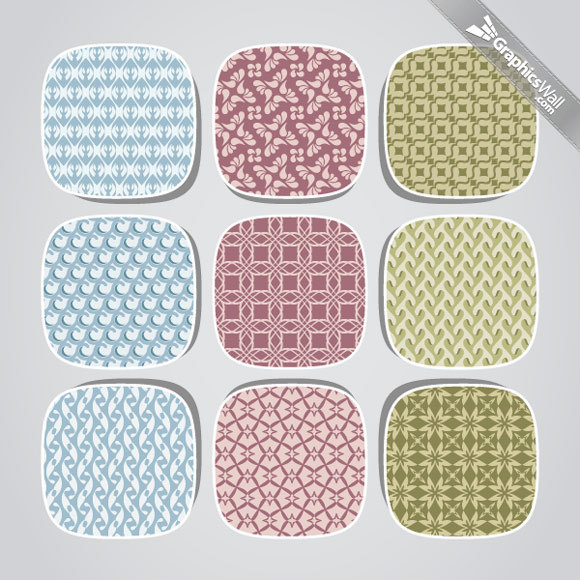 Fresh Seamless<br /> http://www.graphicswall.com/9-fresh-seamless-vector-patterns