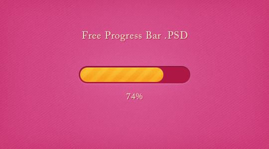 女性进度条<br /> http://ps.psd.co/2011/06/01/free-progress-bar-psd/