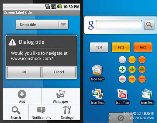 Photoshop Android GUI Set<br /> http://www.webdesignshock.com/free-photoshop-android-interface-gui/