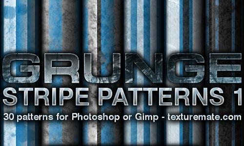 垃圾条纹模式设置为Photoshop或Gimp(30模式)<br /> http://www.texturemate.com/content/grunge-stripes-1-pattern-set-photoshop-or-gimp