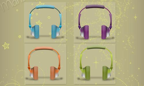 Headphones of Colors (iconos)<br /> http://mariipaz.deviantart.com/art/Headphones-of-colors-iconos-306947334