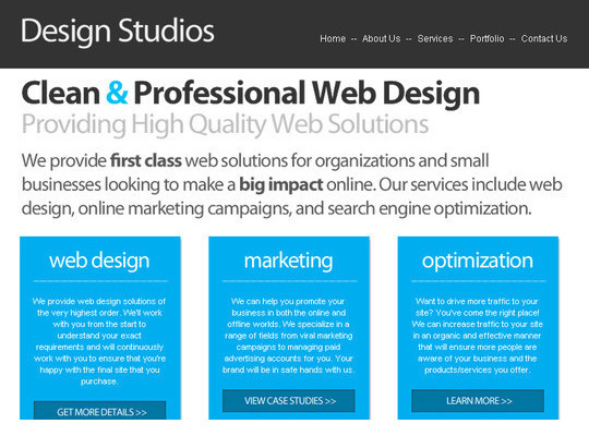 PSD/HTML Conversion: Code a Clean Business Website Design<br /> http://sixrevisions.com/tutorials/web-development-tutorials/psdhtml-conversion-code-a-clean-business-website-design/