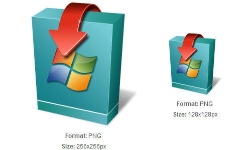 Windows操作系统的下载图标<br /> http://iconbug.com/detail/icon/1566/windows-operating-system-download/
