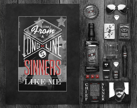 Eric Church Identity by Cody Petts<br /> http://www.behance.net/gallery/Eric-Church-Identity-%28Personal-Project%29/4869005