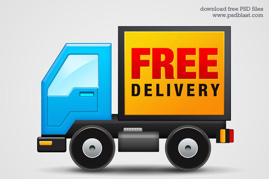 Free Delivery Icon<br /> http://psdblast.com/free-delivery-icon-psd