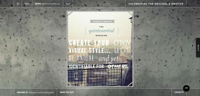 The Quintessential Magazine<br /> http://thequintessentialmagazine.com.au/