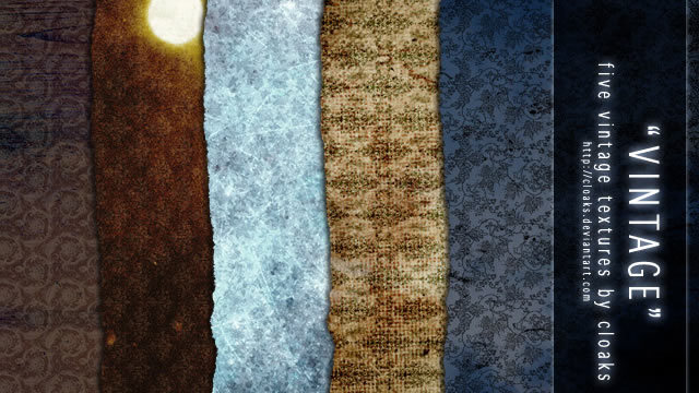 复古纹理包(5纹理)<br /> http://cloaks.deviantart.com/art/Vintage-Texture-Pack-85522612