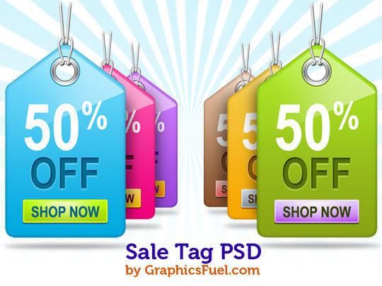 销售标签PSD组<br /> http://www.graphicsfuel.com/2010/12/sale-tag-psd-pack/