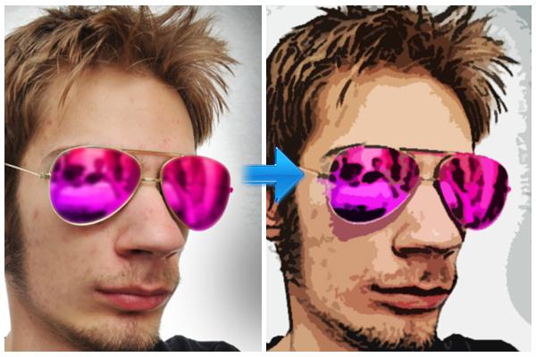 2分钟卡通你的脸<br /><br /> http://www.tripwiremagazine.com/2011/03/photoshop-tutorial-turning-an-image-into-a-cartoon-in-2-minutes.html