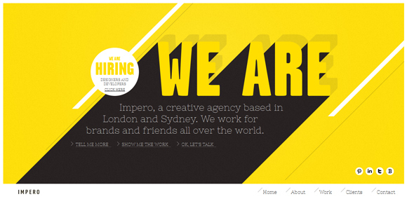 We are Impero<br /> http://weareimpero.com/