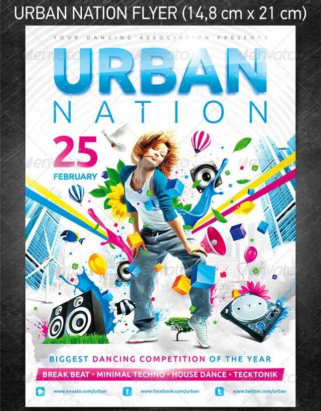 Urban National Flyer<br /><br /> http://www.behance.net/gallery/Urban-Nation-Flyer-PSD-Template/3187853