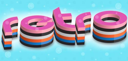3D复古字体的绘制<br /> http://websoulz.com/3d-meets-retro-text-effect/
