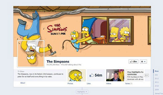 The Simpsons<br /> http://www.facebook.com/TheSimpsons