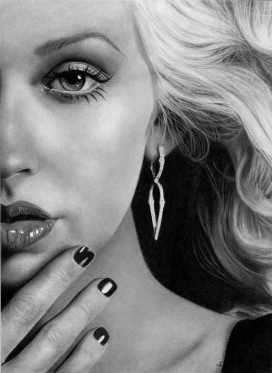 By Esteljf<br /> http://esteljf.deviantart.com/art/Half-of-you-Christina-Aguilera-93476359