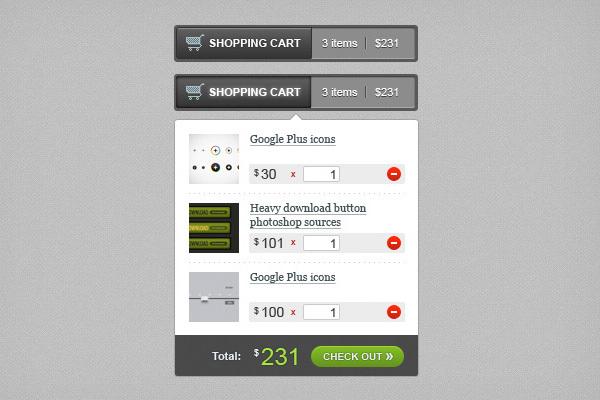 购物车HTML / CSS / JS<br /> http://firefreebies.com/download/?postnum=442