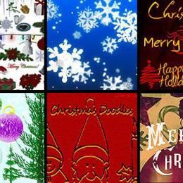 10套圣诞节主题PSD免费素材资源