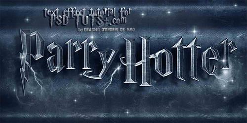 "Create a ""Parry Hotter"" Text Effect in Photoshop<br /> http://psd.tutsplus.com/tutorials/text-effects-tutorials/parry-hotter-text-effect/"