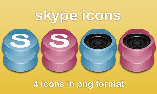 Skype的图标<br /> http://petemh.deviantart.com/art/Skype-icons-41061338
